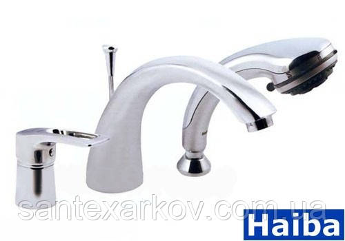 Смеситель врезной на 3 отверстия  для ванны Haiba Hansberg- 022, фото 1