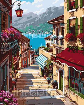 Картина за номерами Menglei MG1100 Тиха вуличка 40 х 50 см 950 місто