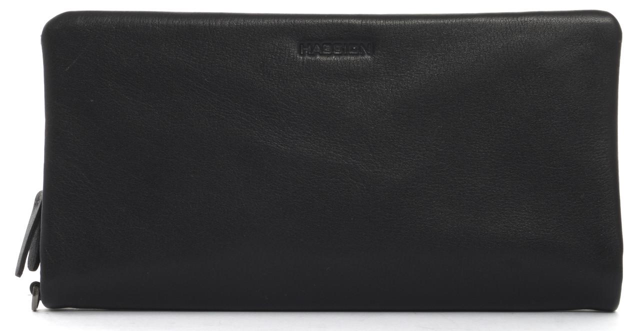 Мужская стильная прочная барсетка бумажникс натуральной высококачественнойкожи HASSION art. H-018черный