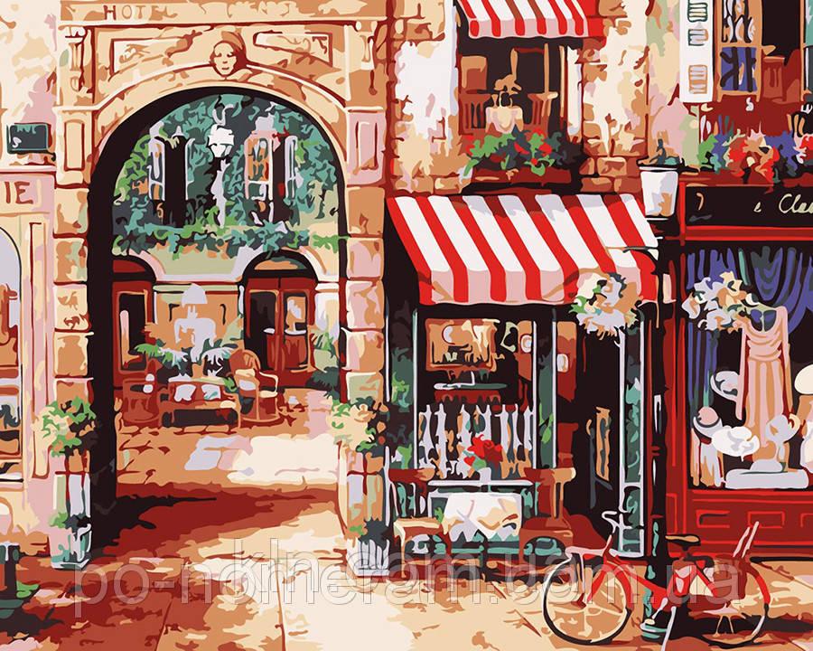 Картина по номерам Menglei MG1106 Парижская улочка 2  40 х 50 см 950 город