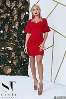 Безупречное красное платье футляр