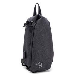 Модный небольшой однолямочный рюкзак-мешок Arctic Hunter XB00045, влагозащищённый, 6л