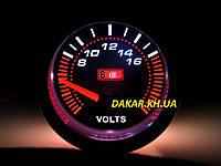 Тюнинговый автомобильный прибор Ket Gauge LED 7701-2 вольтметр, фото 1
