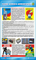 Стенд. Техніка безпеки в акумуляторних. 0,6х1,0. Пластик
