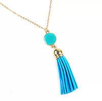 Модная женская подвеска кисть/украшение на шею, бижутерия «Blue styles» (голубой)