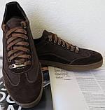 Италия классические туфли кеды мужские коричневые кожа с замшей, фото 2