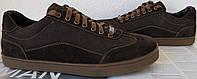 Италия классические туфли кеды мужские коричневые кожа с замшей, фото 1