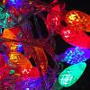 Гирлянда светодиодная новогодняя цветная Шишки 20 LED ламп 4.5м, фото 2