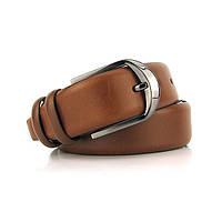 Ремень классический кожаный мужской под брюки Bond 1300 Турция, фото 1