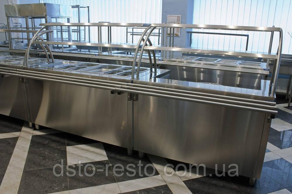 Мармит  вторых блюд на 4 емкости 1500/700/1400 мм мм, две полки