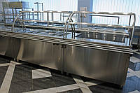 Мармит  вторых блюд на 4 емкости 1500/700/1400 мм мм, две полки, фото 1