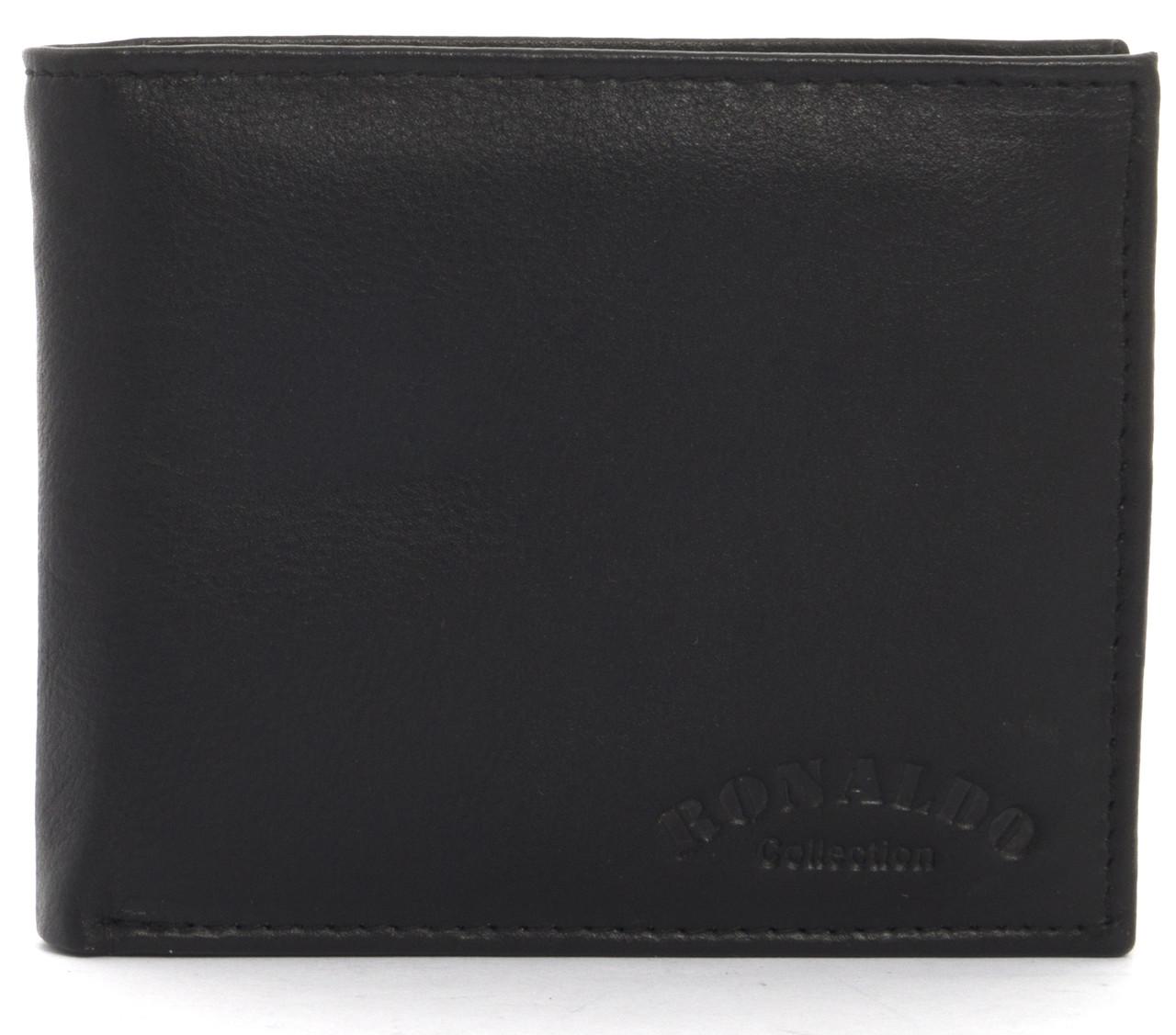 Кошелек мужской кожаный с большим количеством отделений RONALDO art. 0670-D черный