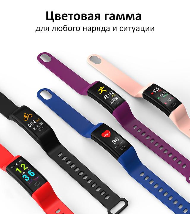 фитнес браслет F07 водонепроницаемый цветной экран с давлением крови