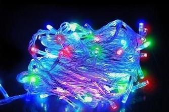 Гирлянда светодиодная новогодняя цветная 240 LED 24м