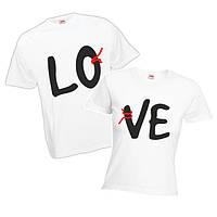 """Парная футболка """"LoVe 3"""""""