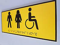 """Тактильные таблички со шрифтом Брайля """"Туалет"""", фото 1"""