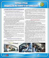 Стенд. Охорона праці водія легкового автомобіля. 0,6х0,5. Пластик