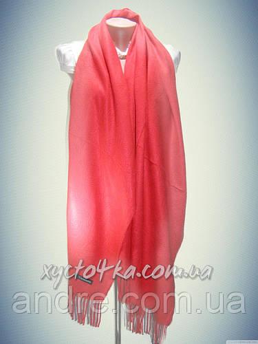 Плотный однотонный кашемировый палантин Камила, красный