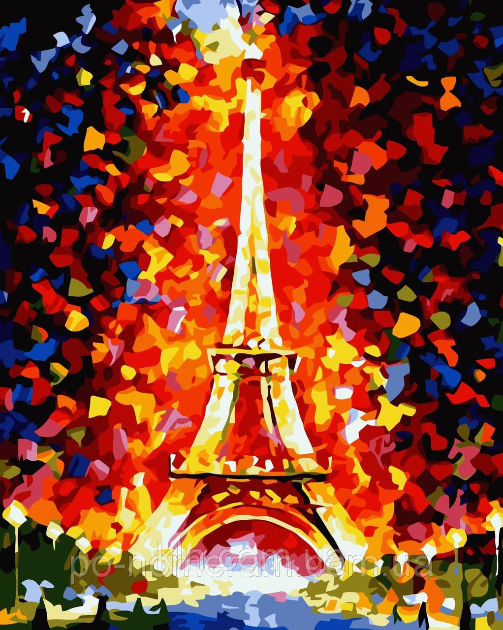Картина по номерам Идейка КН076 Эйфелева башня в огнях 40 х 50 см 950 город