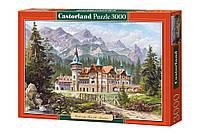 """Пазлы Castorland на 3000 элементов. """"Замок у подножия гор"""". Быстрая доставка. Производство Польша."""