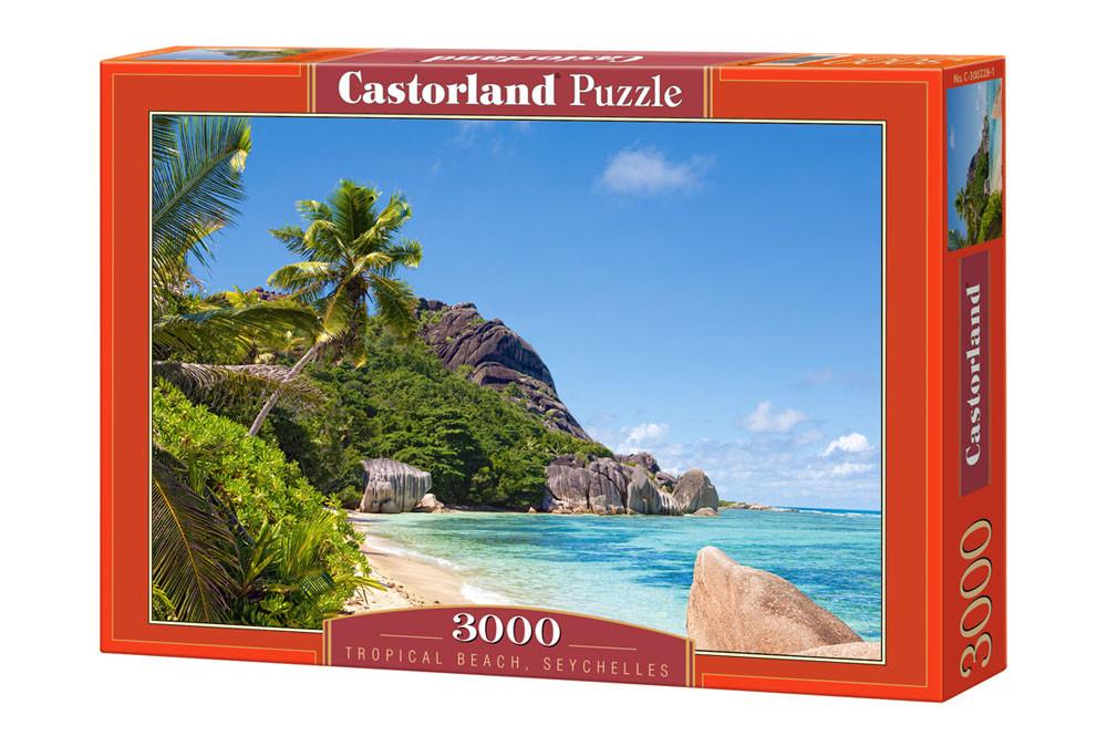 """Пазлы Castorland C-300228 """"Тропический пляж Сейшелы"""" на 3000 элементов (C-300228)"""