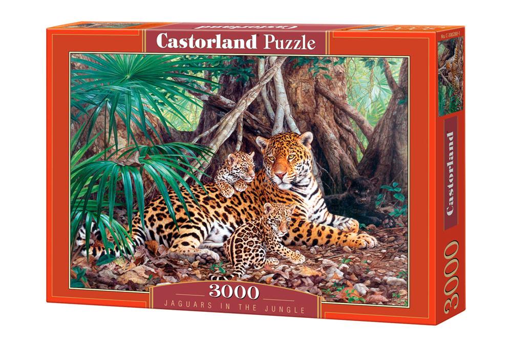 """Пазлы Castorland C-300280 """"Ягуар в джунглях"""" на 3000 элементов (C-300280)"""