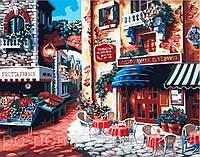 Картина по номерам Menglei MG078 Кафе на углу улицы 40 х 50 см 950 город
