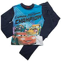 Детская пижама Тачки (Cars) на мальчика 6-8 лет из хлопка ТМ Disney (Sun City) Голубой HQ2232-blue