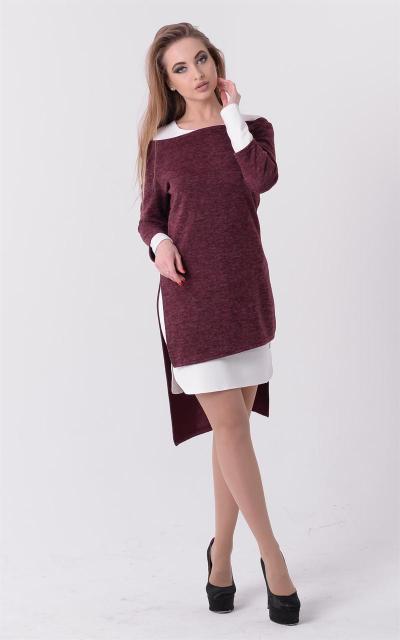 Модное платье-двойка (4 цвета)
