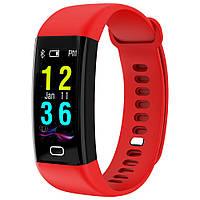 Фитнес браслет с тонометром F07 для iPhone Android давление крови пульсометр калории датчик сна красный