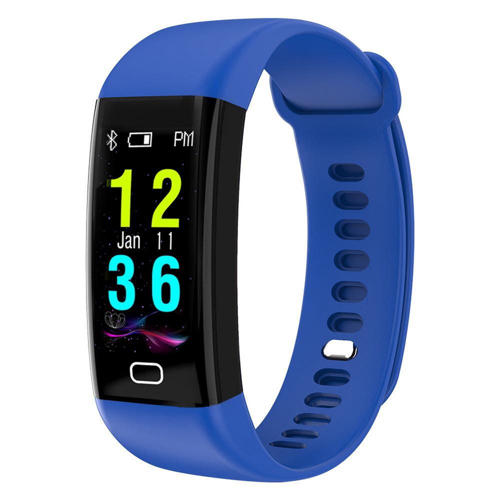 52050ae6 Фитнес браслет с тонометром давление крови F07 смарт часы для iPhone  Android пульсометр калории синий -