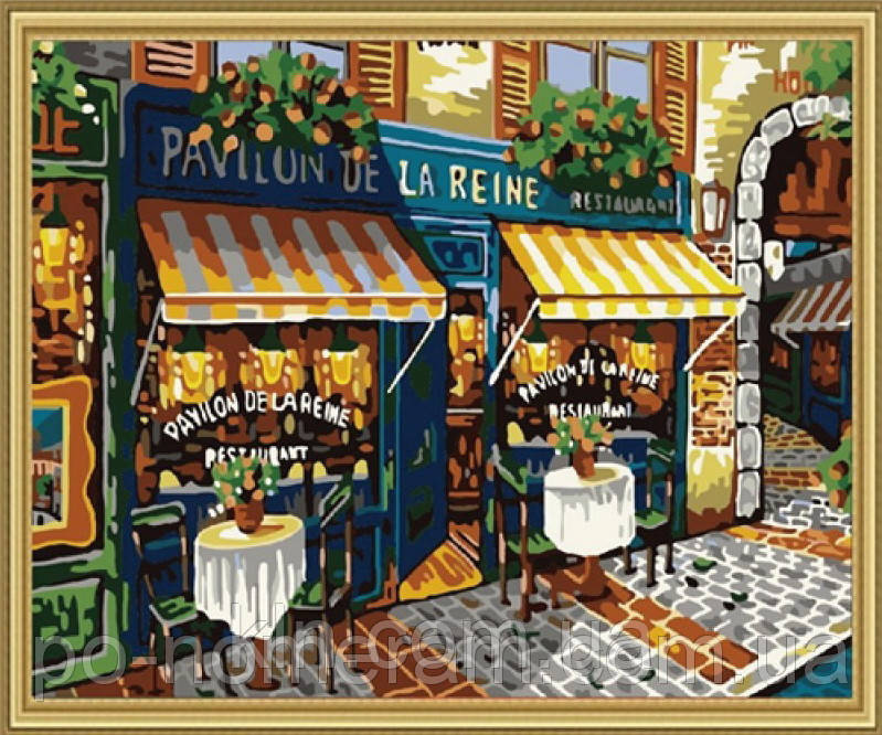 Картина по номерам Menglei MG139 Парижская улочка 40 х 50 см 950 город