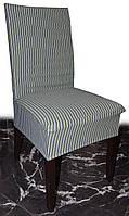 Плотные чехлы на стулья Полоса зеленая
