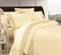 Комплект постельного белья, Сатин с кружевом