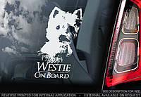 Вест-хайленд-вайт-терьер (Вест-хайленд-уайт-терьер) Westie стикер