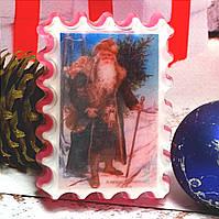 """Натуральное глицериновое мыло ручной работы """" Санта клаус в лесу""""."""