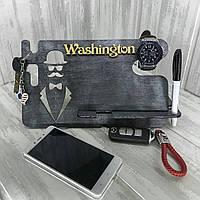 Дерев'яна  Підставка-органайзер для телефона (ручна робота)