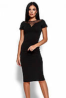 (S, M, L, XL) Облягаюче чорне класичне плаття Valia