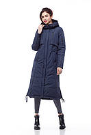 Зимнее пальто-пуховик для очень холодной зимы Большие размеры  42-54