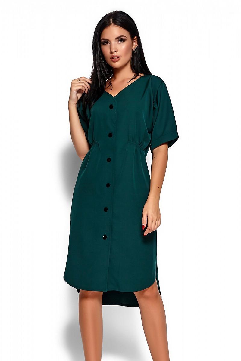 (S, L) Повсякденне темно-зелене плаття Jazelin