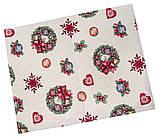Наволочка новогодняя гобеленовая, односторонняя, 45х45 см, Эксклюзивные подарки, Новогодний текстиль, фото 2