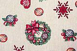 Наволочка новогодняя гобеленовая, односторонняя, 45х45 см, Эксклюзивные подарки, Новогодний текстиль, фото 6