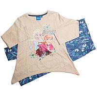 Детская пижама 3,6,8 лет Холодное сердце (Frozen) на девочек ТМ Disney (Sun City) Бежевый HQ1217