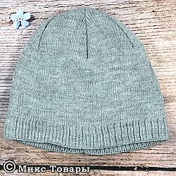 Серая мужская шапка с флисом (UA31019)