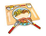 Рамка-вкладыши Сервировка стола Lam Toys 10 деталей
