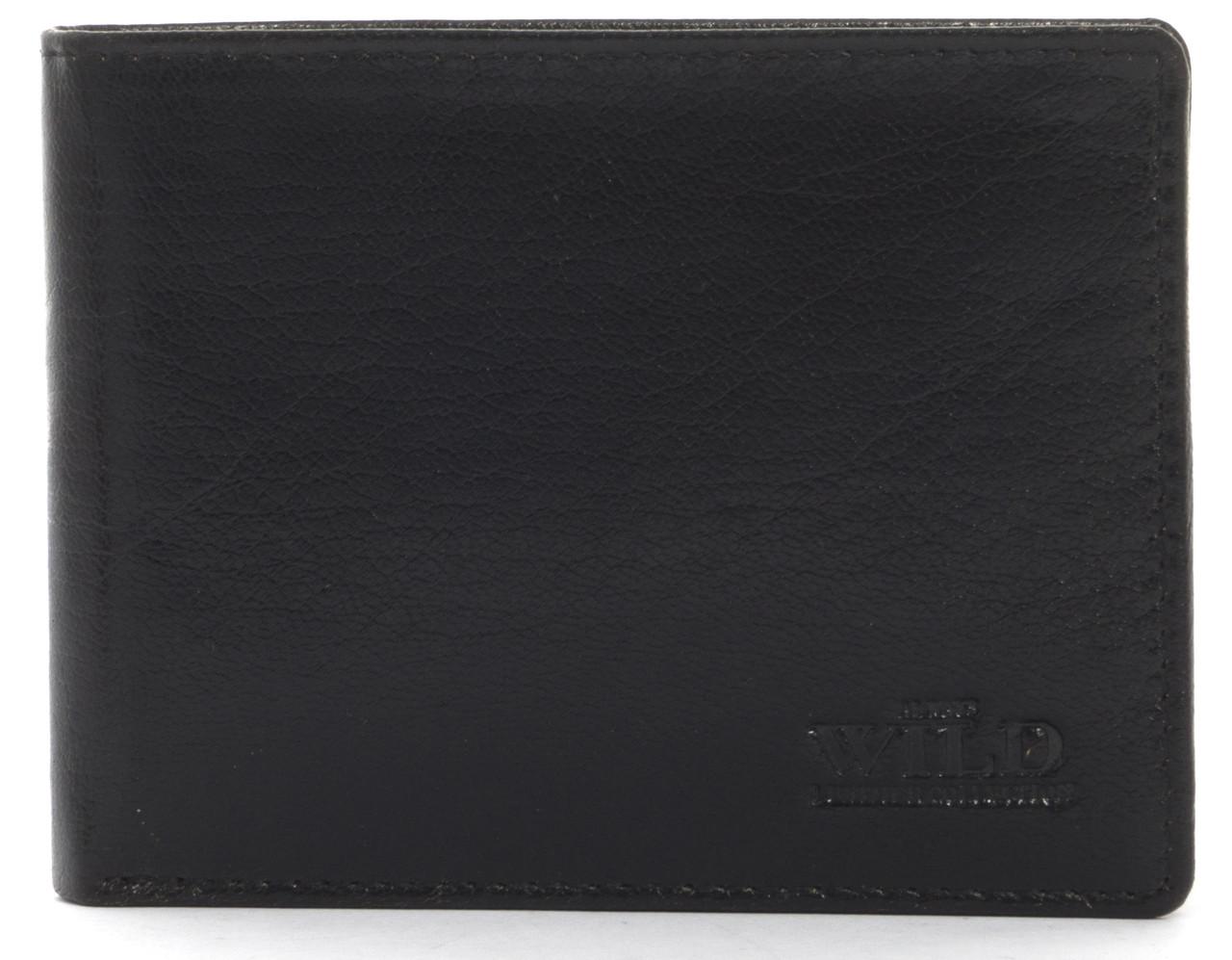 Кошелек мужской кожаный с большим количеством отделений ALWAYSWILD art. 25936-GF черный, фото 1