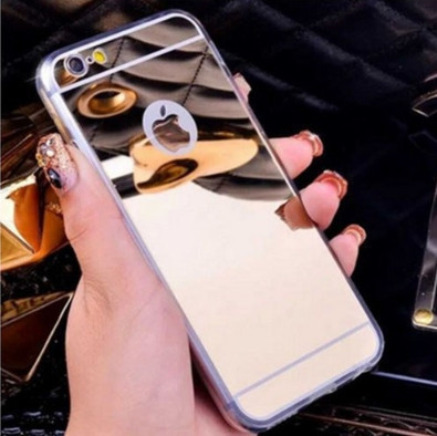 Зеркальный силиконовый чехол для iPhone 7/8 Plus