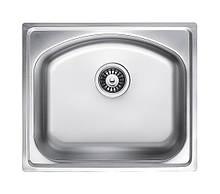 Кухонна мийка врізна з нержавіючої сталі Platinum 4842 Сатин 0.8