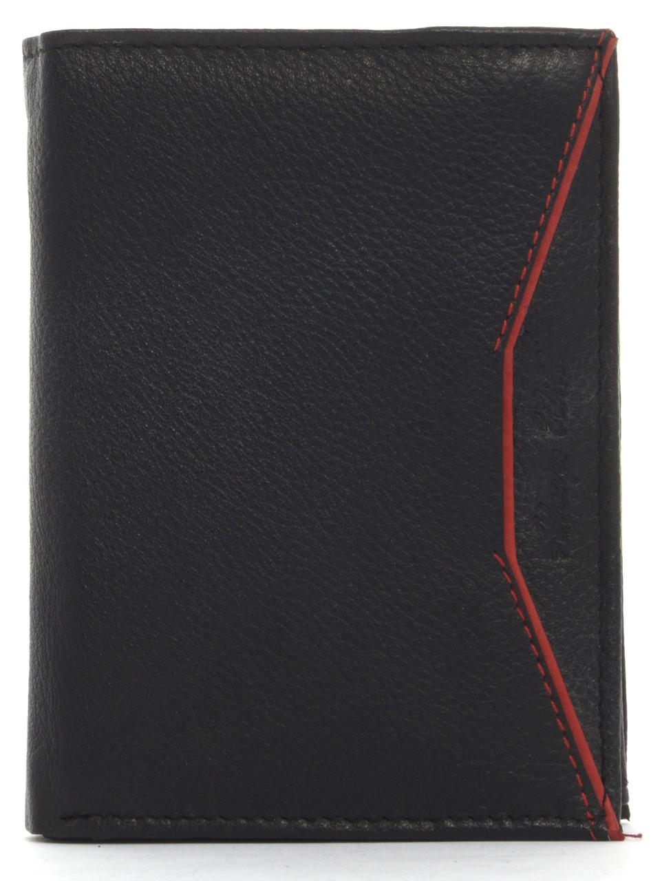 Кошелек мужской кожаный с большим количеством отделений ALWAYSWILD art. N4-SHP черный, фото 1