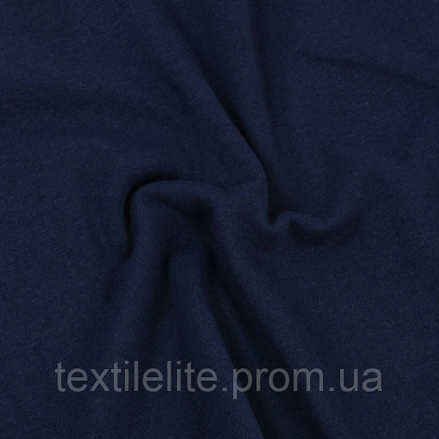 Кулирка оптом турецкая трикотажная ткань хлопковая 100% синяя в рулонах